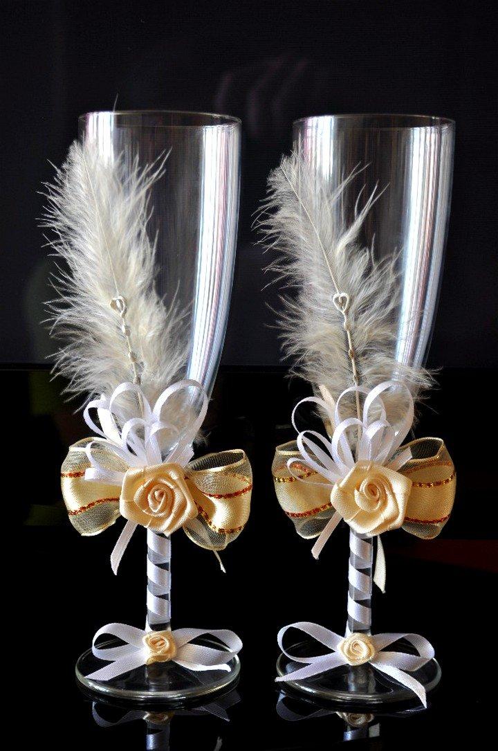 Свадебные фужеры своими руками (фото)