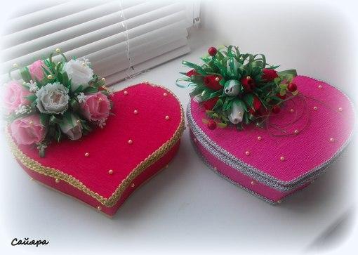 Шкатулочки ко дню святого валентина   страна мастеров