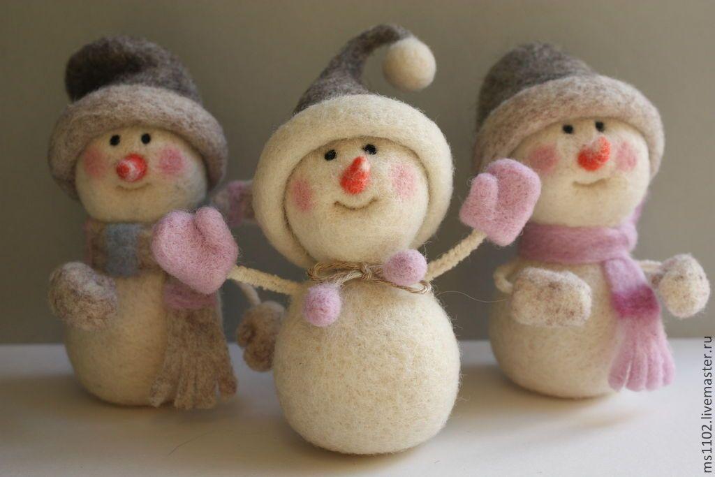 Валяние из шерсти: снегирь, мастер класс