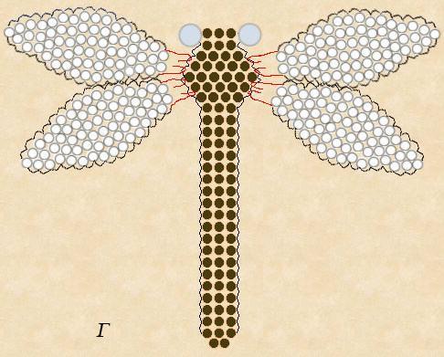 Стрекоза из бисера: схема плетения, использование стекляруса, как сплести жучка и муравья