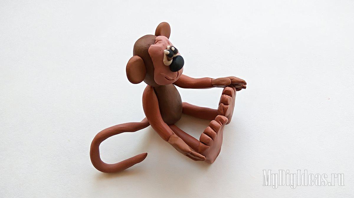 ᐉ лепим милую обезьянку - своими руками -