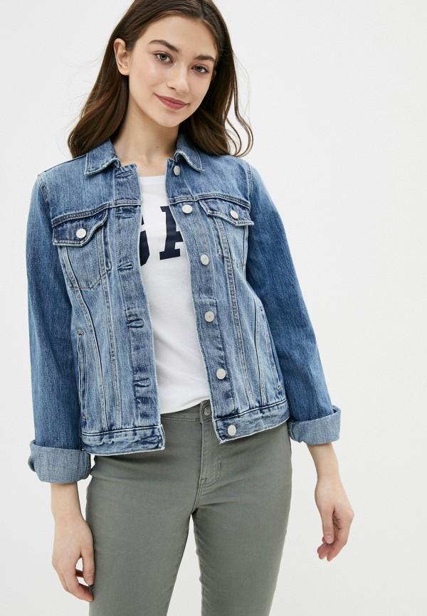 Женская ветровка из джинсовой ткани