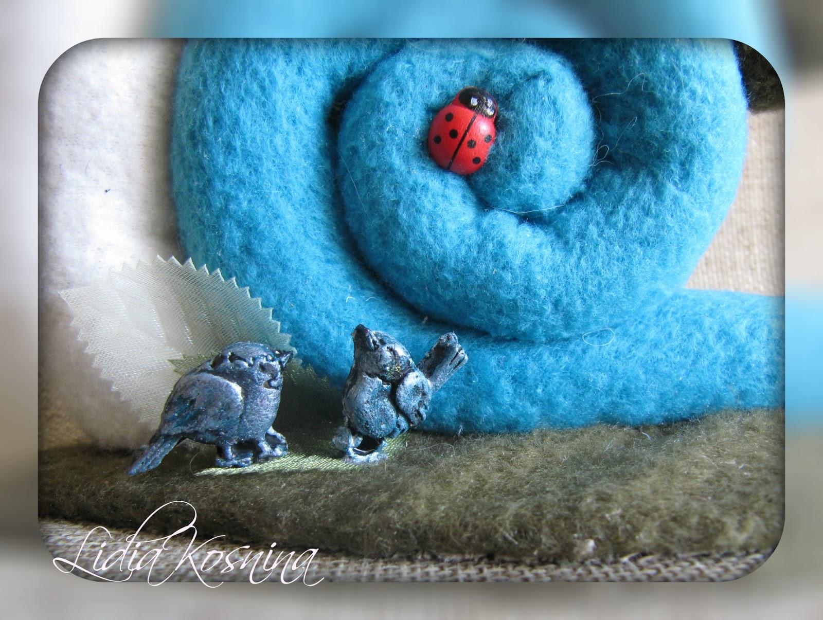 Игрушка мастер-класс шитьё улитка клей краска нитки проволока пряжа ткань