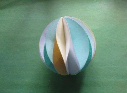 """Мяч из бумаги, сделанный собственноручно — журнал """"рутвет"""""""