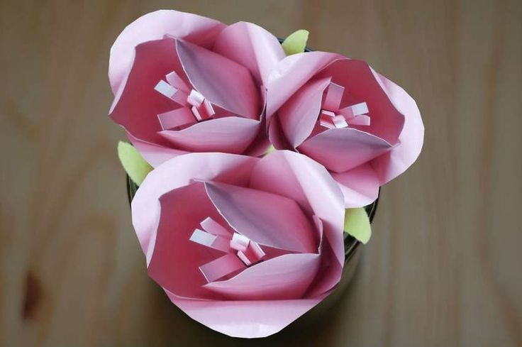 Цветок из бумаги своими руками. как сделать объемные цветы пошагово с фото
