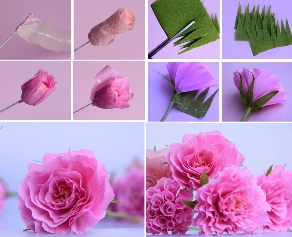 Розы из бумаги в технике оригами