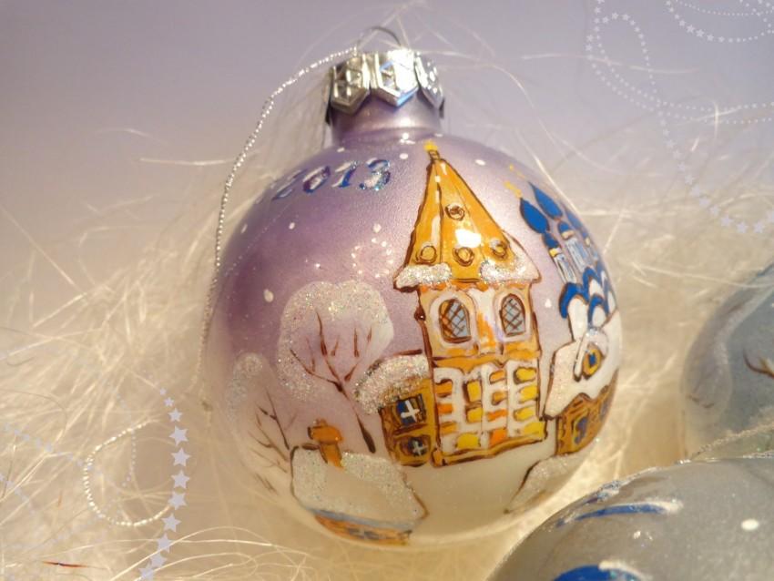 Новогодний декупаж своими руками - мастер-классы по украшению ёлочных шаров, бутылок шампанского, фужеров