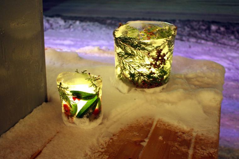 Милые сердцу штучки: ледяной подсвечник своими руками