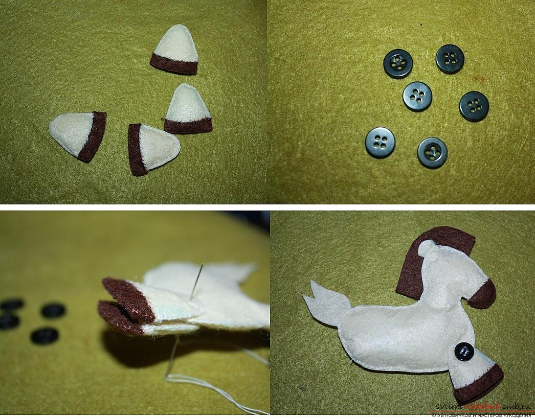 Игрушка из фетра лошадка. лошадка своими руками. как сшить лошадку из фетра и ткани. выкройки новогодних игрушек из фетра