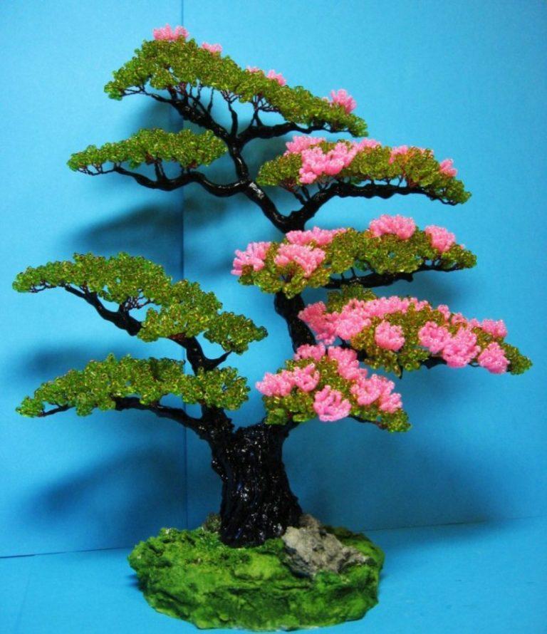 Деревья из бисера для начинающих, подготовка, основы плетения и советы
