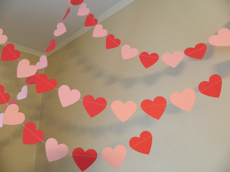 Гирлянда из сердечек: как сделать украшение своими руками, преимущества романтичного декора помещения