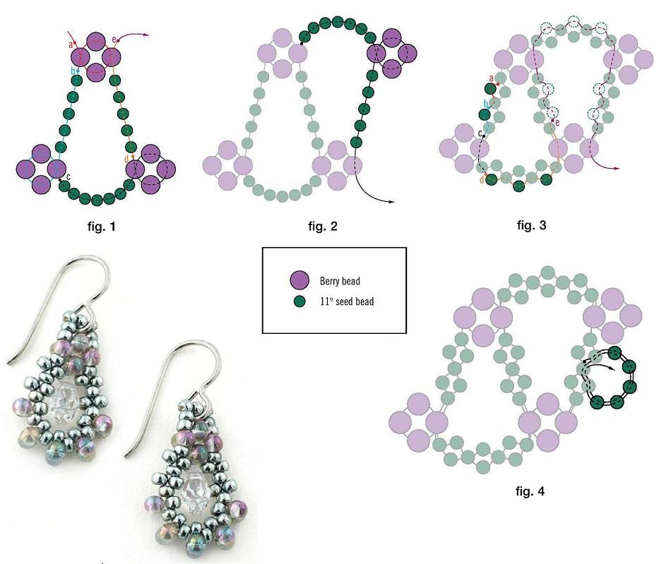 Колье из бисера — простые схемы плетения и варианты для начинающих (инструкция + фото)