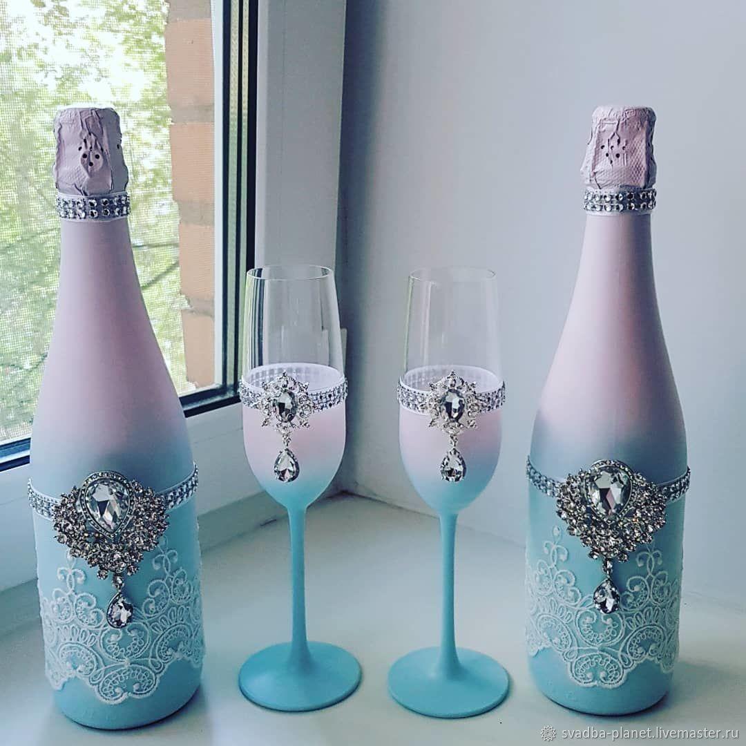 Шампанское на свадьбу «жених и невеста» — коробочка идей и мастер-классов