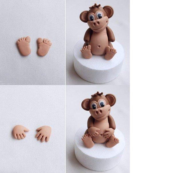 Как слепить обезьяну из пластилина