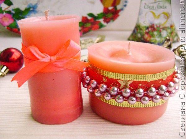 Декор свечей своими руками +75 фото