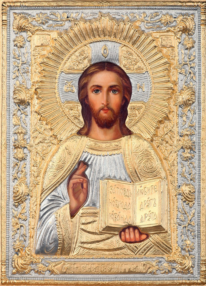 Иконы иисуса христа и пресвятой богородицы