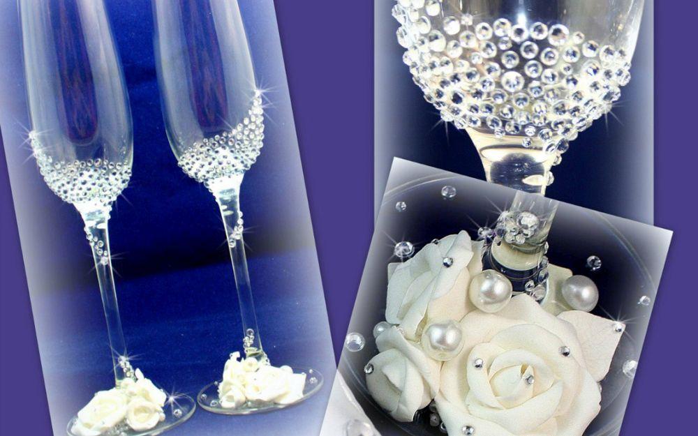 Бокалы на свадьбу - 60 фото самых стильных идей украшения и дизайна