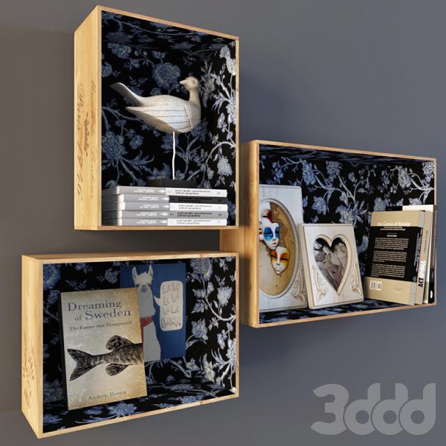 Оригинальные полки из ящиков от старой мебели: 32 идеи для декора и мелочей