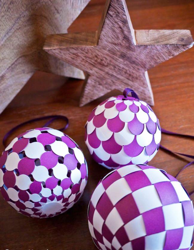 ᐉ красивые и ориганильные новогодние шары из бумаги своими руками с пошаговой инструкцией. как сделать шар из бумаги — схема своими руками ➡ klass511.ru
