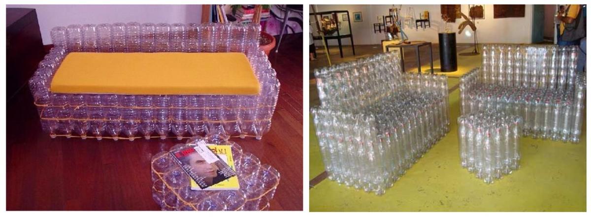 Как пошагово сделать пуфик из пластиковых бутылок своими руками: инструкция с описанием