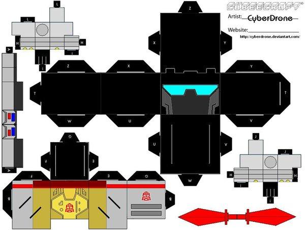 Как сделать из бумаги трансформера: пошаговый мастер-класс с шаблоном, схемой и фото