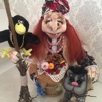 Куклы из капрона своими руками. овечка удачи.