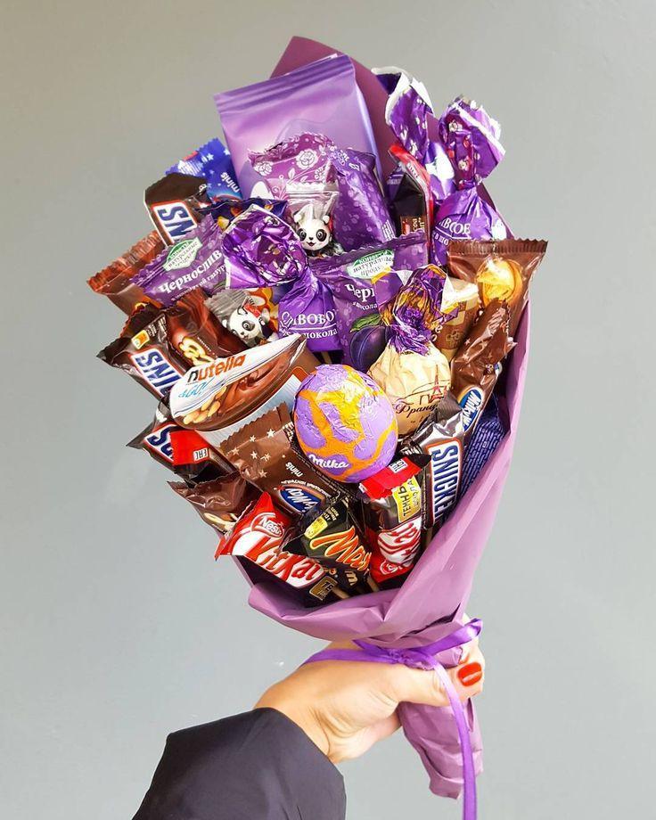 Букет из конфет своими руками: 10 вкусных фото