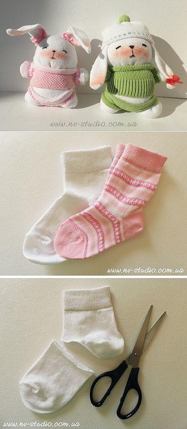 Заяц из носков своими руками / подарки, сувениры и поделки своими руками / самоделка.net - сделай сам своими руками