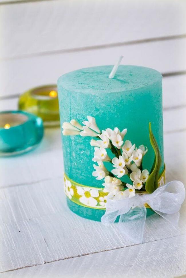 Романтические свечи к 14 февраля своими руками
