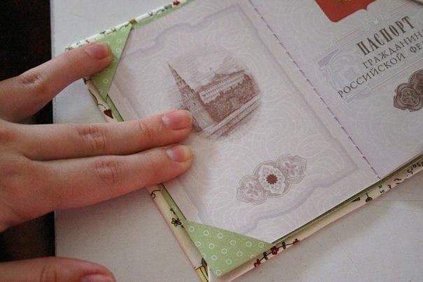 Обложка на паспорт сделать самому своими руками. скрапбукинг: обложка на паспорт