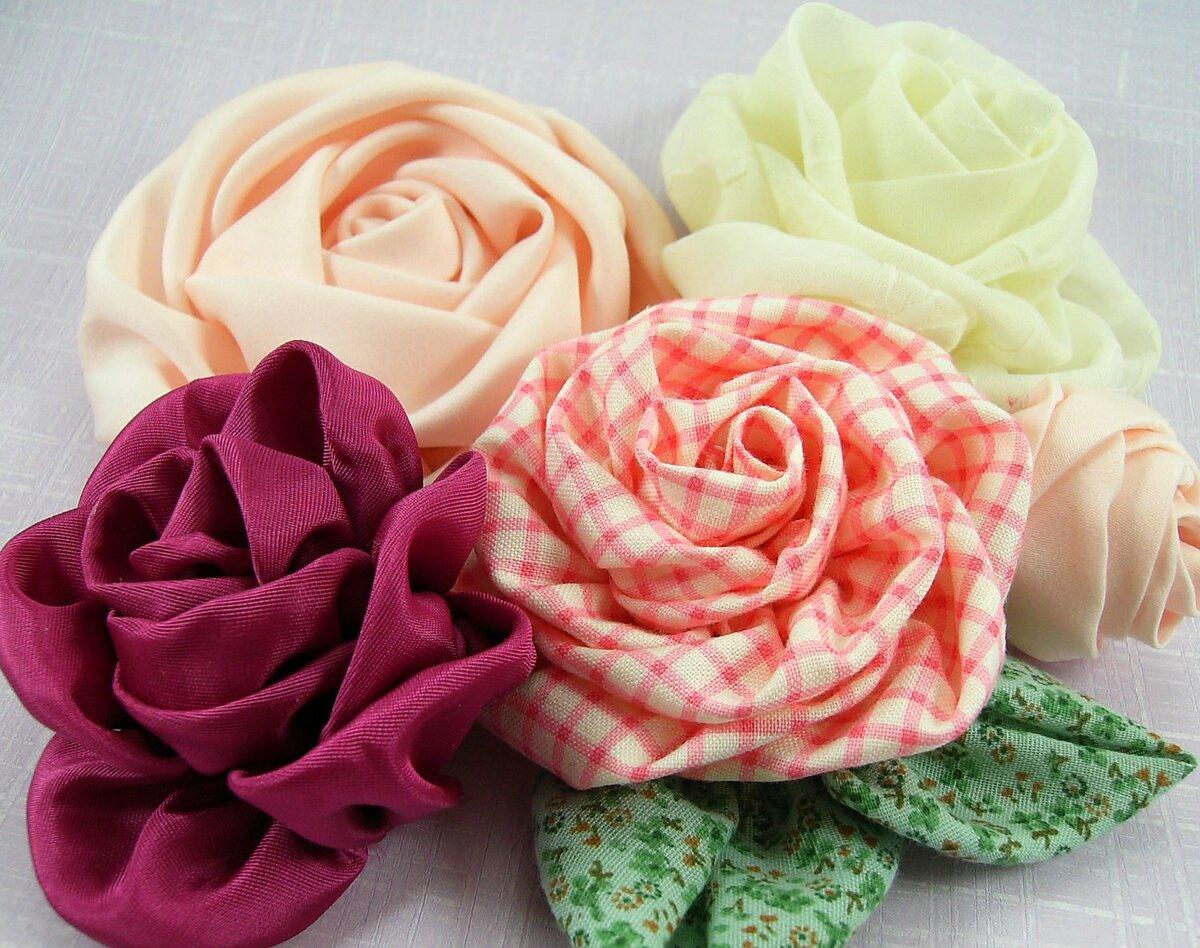 Как сшить тканевую розу самостоятельно: пошагово для новичков