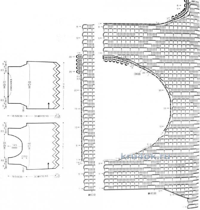 Безрукавка крючком - 7 моделей со схемами, описанием и видео мк