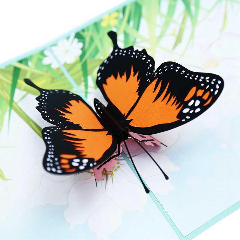 Объемная бабочка своими руками на открытку из цветной бумаги