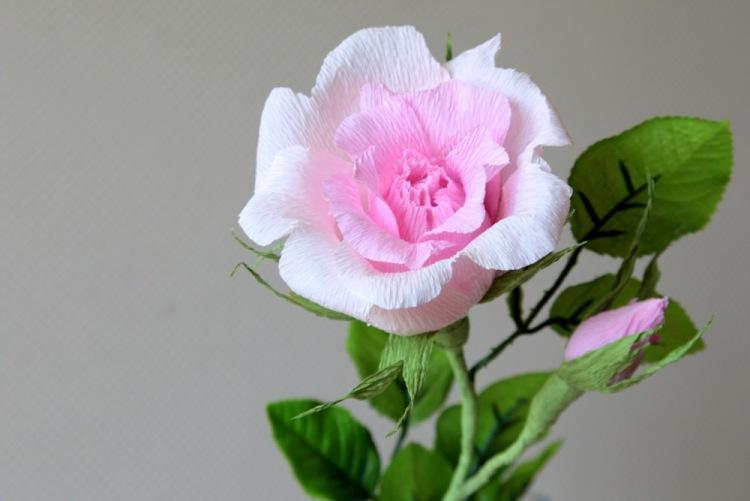 Роза из гофрированной бумаги | dodim