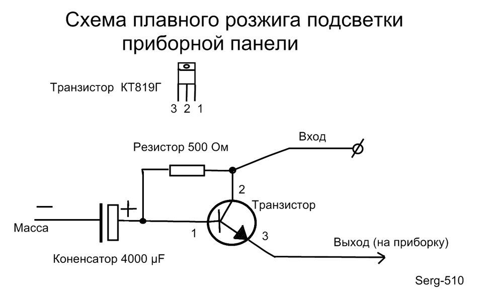 Плавное включение и выключение светодиодов