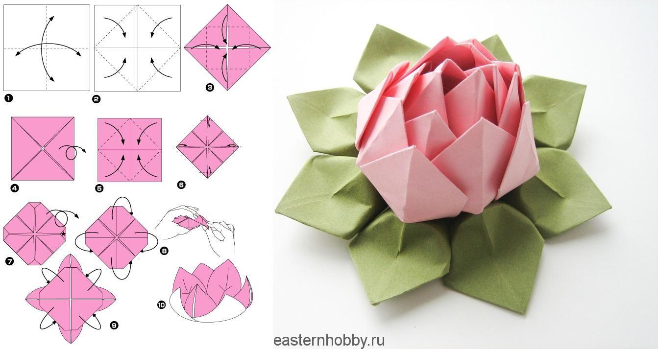 ᐉ цветок лотоса из гофрированной бумаги - своими руками -
