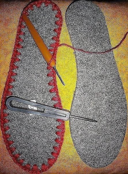 Вязание крючком: домашние тапочки на войлочной подошве