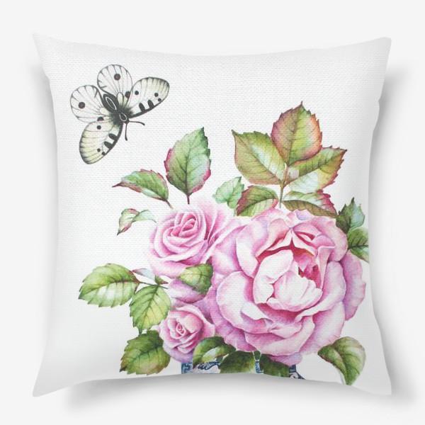 Свадебная подушка с розой