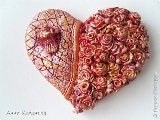 Картина панно рисунок валентинов день лепка валентинки из соленого теста тесто соленое