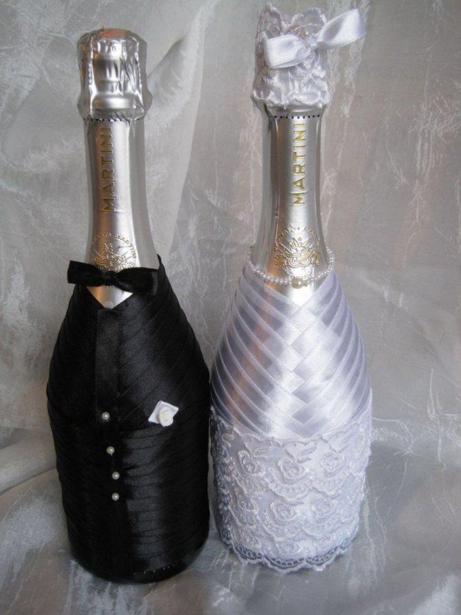 Украшение бутылки шампанского на новый год своими руками: фото декора 2019