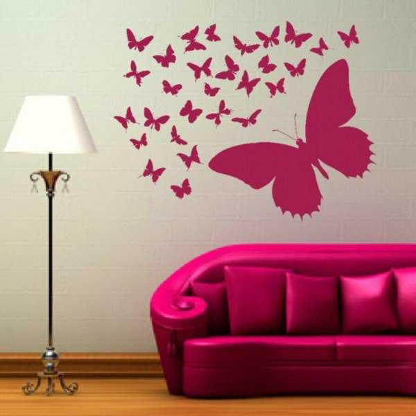 Бабочки на стену — 105 фото красивых вариантов оформления и идей декора при помощи бабочек
