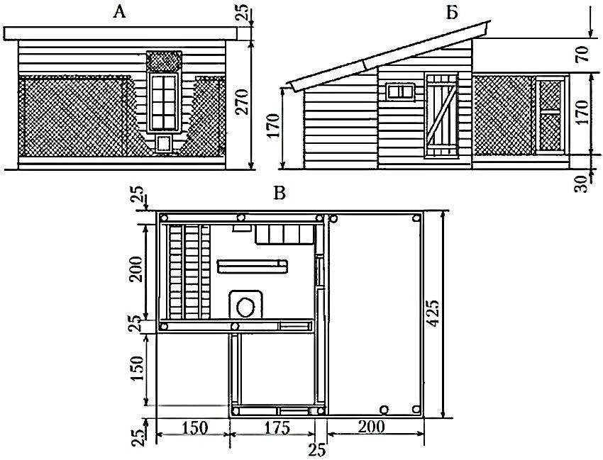Курятник своими руками - пошаговые инструкции по постройке и утеплению (видео + 95 фото)