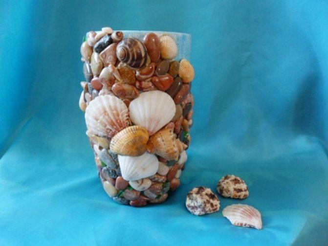 Ракушки морские в интерьере, декор своими руками, бордюр из ракушек для ванной комнаты