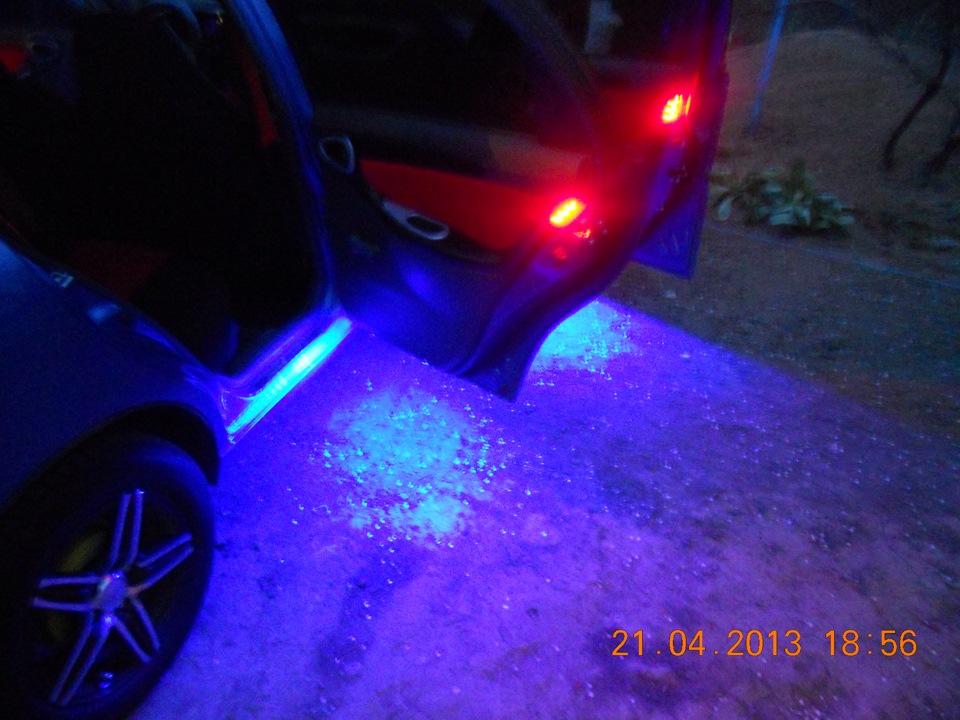 Тюнинговая подсветка салона при открытии дверей автомобиля