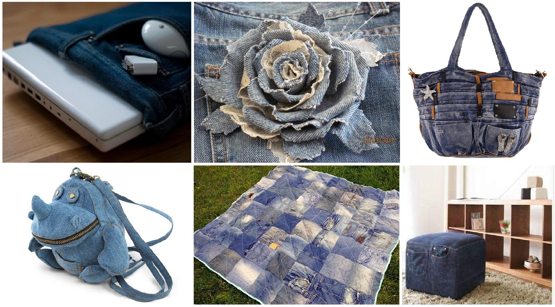 Креативная елочка из джинсовой ткани - своими руками