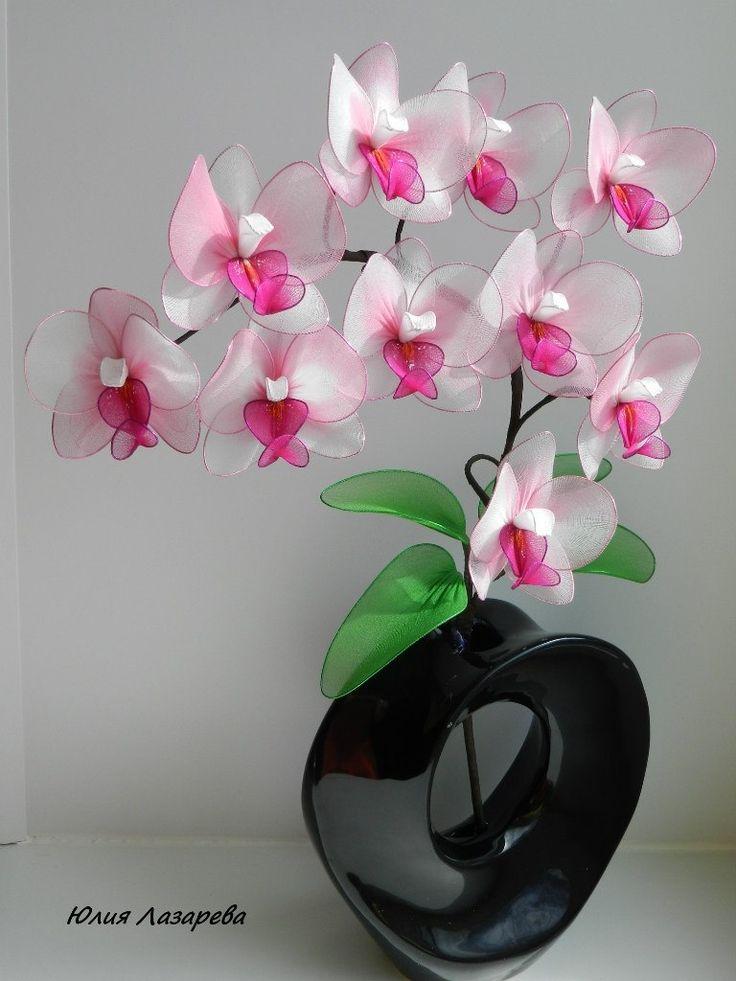 Цветы из капрона и проволоки своими руками: материалы, мастер-классы по сборке листьев, цветов, тычинок | крестик