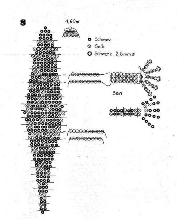 Крокодил из бисера: схема работы с бусинами для начинающих