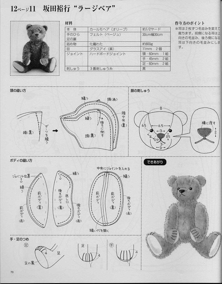 ᐉ как делать мишку из. выкройка мишки из ткани. как сшить мягкую игрушку мишку своими руками ✅ igrad.su