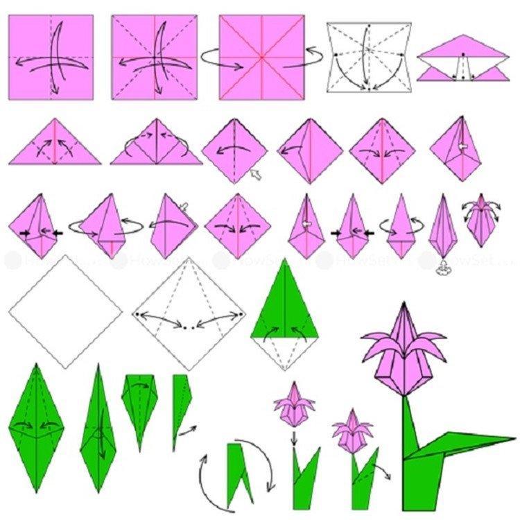 Как сделать оригами цветы из бумаги: 8 лучших схем, пошаговые фото и видео, мастер-классы
