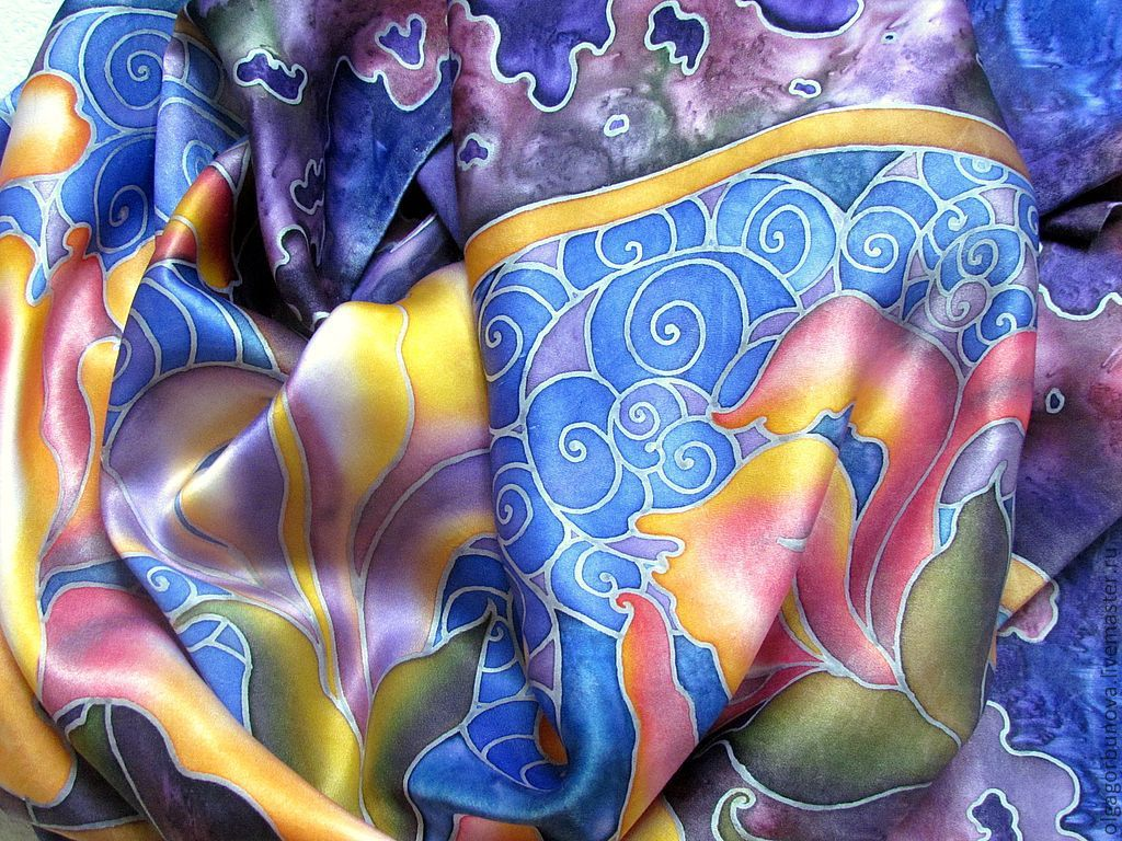 Холодный батик — художественная роспись ткани   megapoisk.com